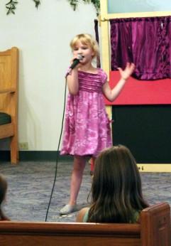 "Emma Van Horn performed ""Let It Go"""