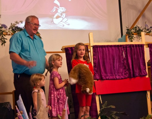 Pastor Robert has a Children's Time in the weekly Worship Service