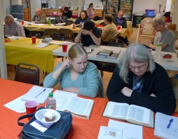 Studying Zechariah at our October 2015 mini-retreat