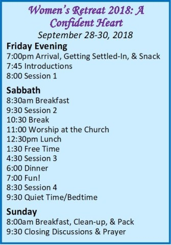 women retreat schedule