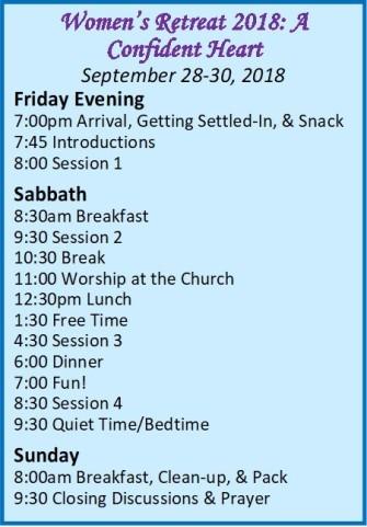 women retreat schedule